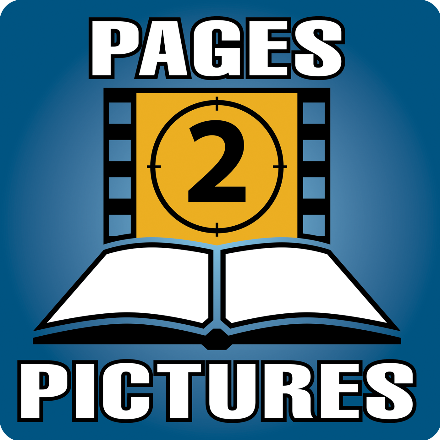 Pages 2 Pictures Podcast logo