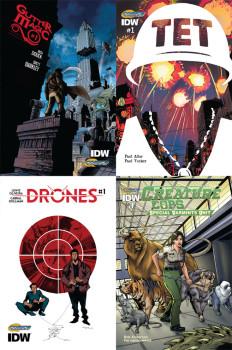 Gutter Magic, TET, Drones, Creature Cops covers