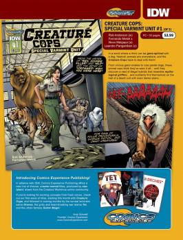 Creature Cops Previews page