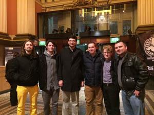 Glenn Møane, Chris Lewis, Steve Aryan, Pete Rogers, Jon Rennie (non-member), and Christopher Hurst