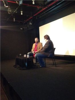 James Janowsky moderators a Q&A with Kabir Bedi at the 2012 South Asian International Film Festival