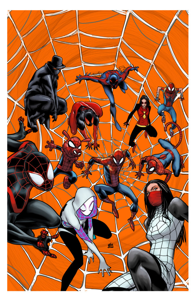 Into the Spiderverse art